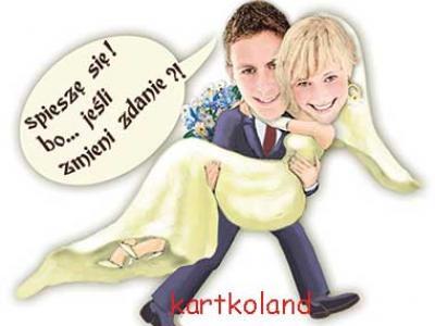 zaproszenia ślubne ze zdjeciem na ślub zabawne fotomontaże Image 3