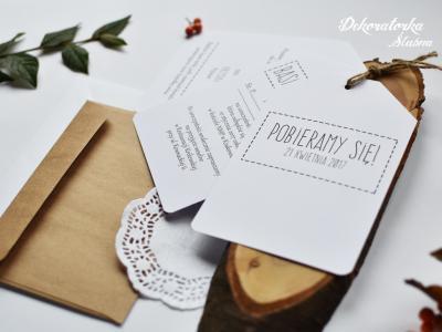 Ręcznie wykonywane, personalizowane zaproszenia i dodatki Image 3