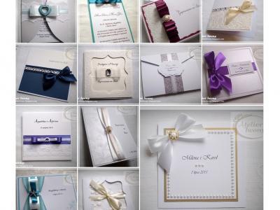 Ręcznie robione zaproszenia ślubne eleganckie Image 3