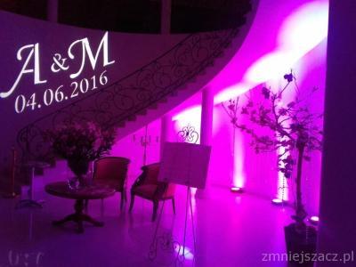 Dekoracyjne oświetlenie sali. Ciężki dym na pierwszy taniec Image 1