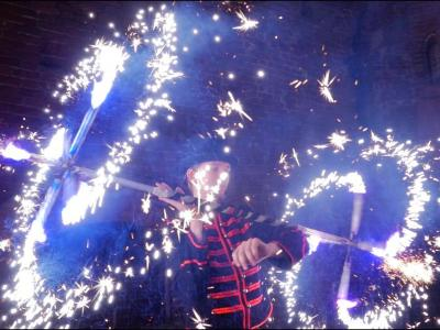 Teatr tancerzy ognia Arta Foc - fireshow - taniec z ogniem Image 2
