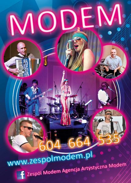 Zespół Muzyczny MODEM na wesele, event firmowy, fotobudka