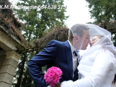 Dron,Dwie Kamery DSLR,Kamery Gopro,Fotograf na wesele